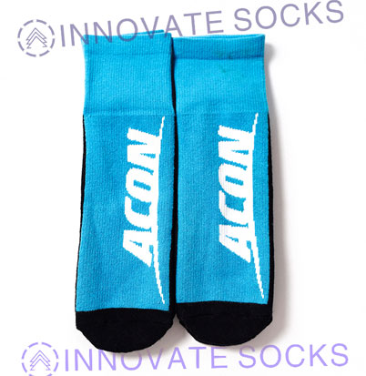 ACON Calf length anti skid grip trampoline socks<!--[
