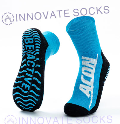 Acon Calf Length Anti Skid Grip Trampoline Socks