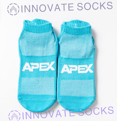 APEX ankle anti skid grip trampoline park socks<!--[