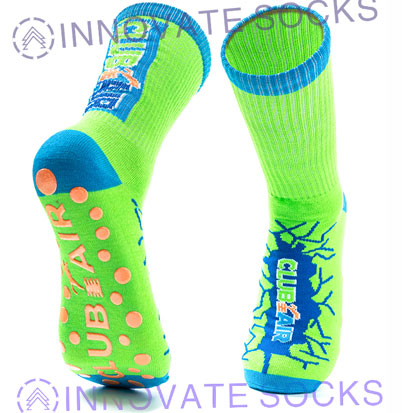 Club Air Crew Anti Skid Grip Trampoline Park Socks