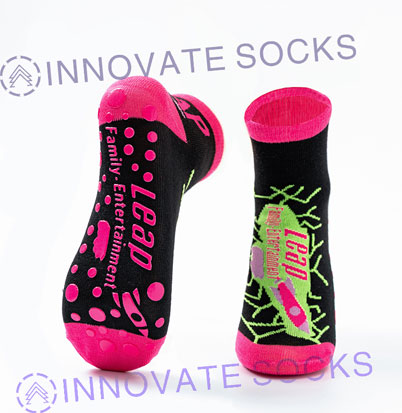 Leap Family Entertainment Ankle Anti Skid Grip Trampoline Park Socks