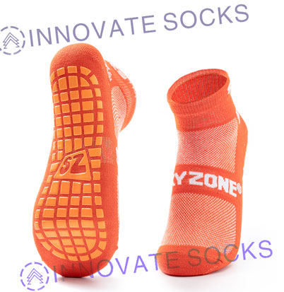 Sky Zone Ankle Anti Skid Grip Trampoline Park Socks