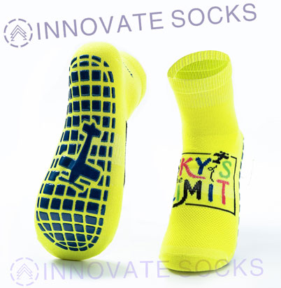 The Sky's Limit Ankle Anti Skid Grip Trampoline Park Socks