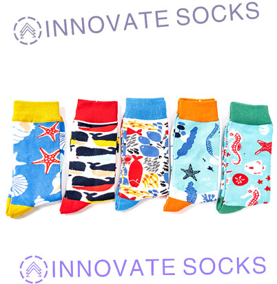 Animal Cartoon Colorful Unisex Fashion Happy socks