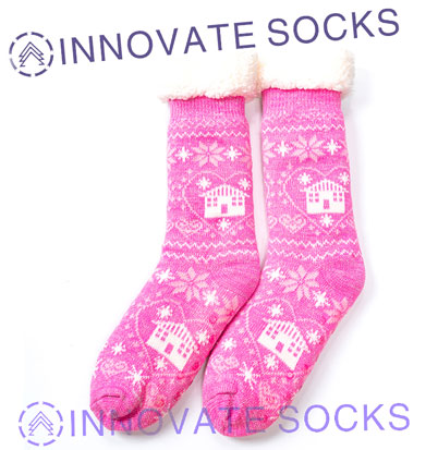 Warm Knitted Winter Home Socks