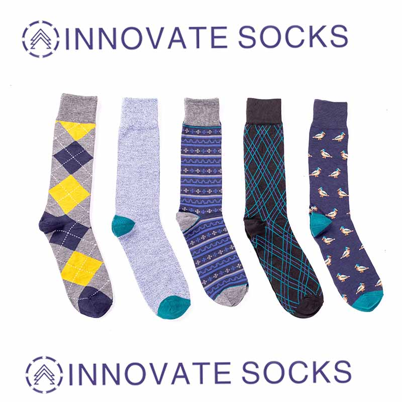 Custom Business Cotton Crew Men Socks