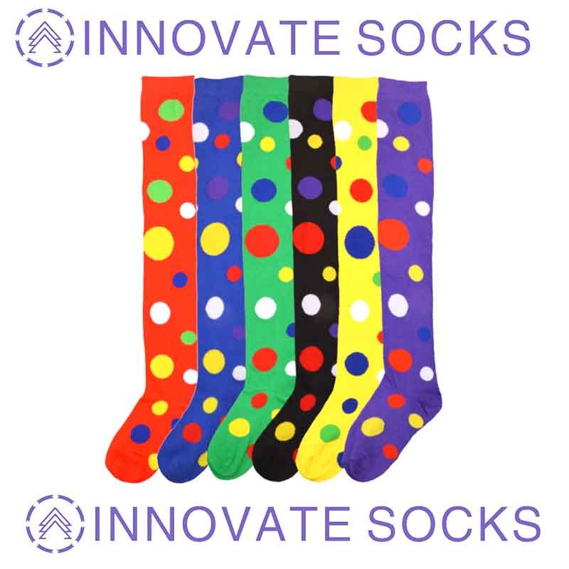 Clown Stockings Polka Over The Knee Socks Cotton Cross-border Christmas Performance Party Socks