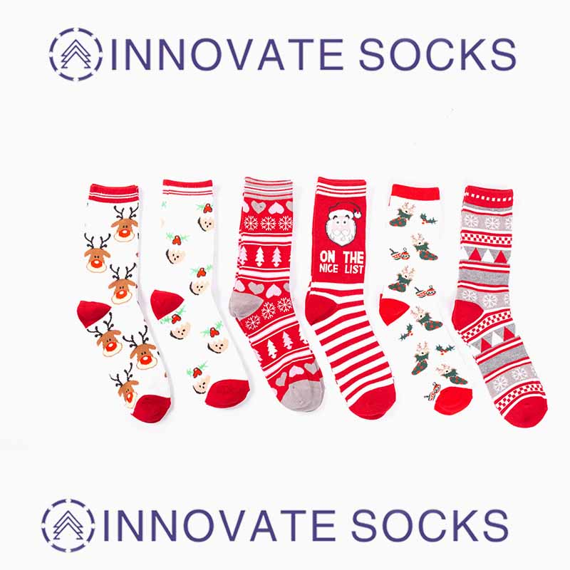 Custom Fashion Design Crew Socks Cotton Christmas Socks Funny Socks