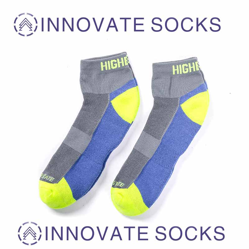 Nylon Bright Color Men Sport Cycling Socks