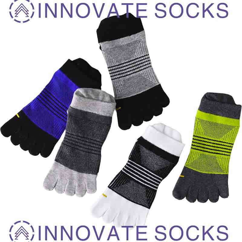Five Toe Men's Cotton Tube Sports Mesh Sweat-absorbent Breathable Deodorant Socks