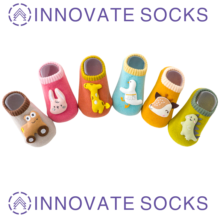 Terry Warm Baby Toddler Socks Stereo Doll Thickening Cute Cartoon Non-slip Floor Socks