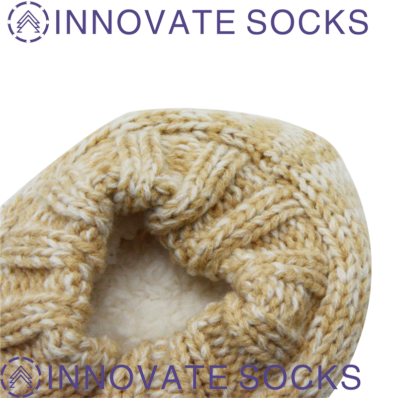Knitted Indoor Shoes With 3D Ears Fuzzy Cozy Sock