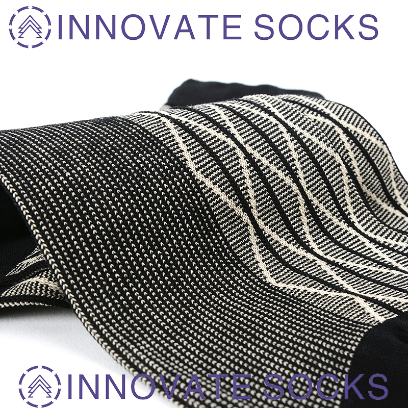 Custom Daily Wear 200N Socks Crew Cotton Dress Business Men Socks