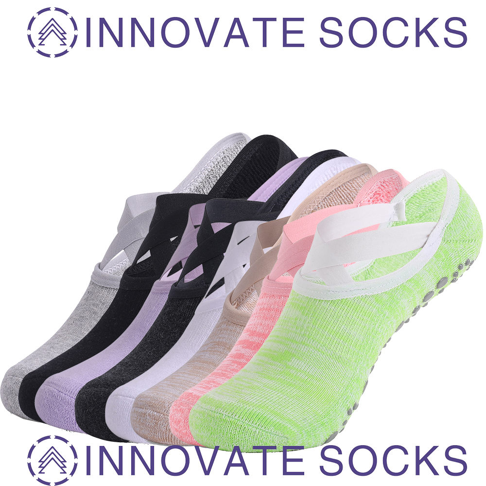 Anti Skidding Grip Pilates Womens Non Skid Socks