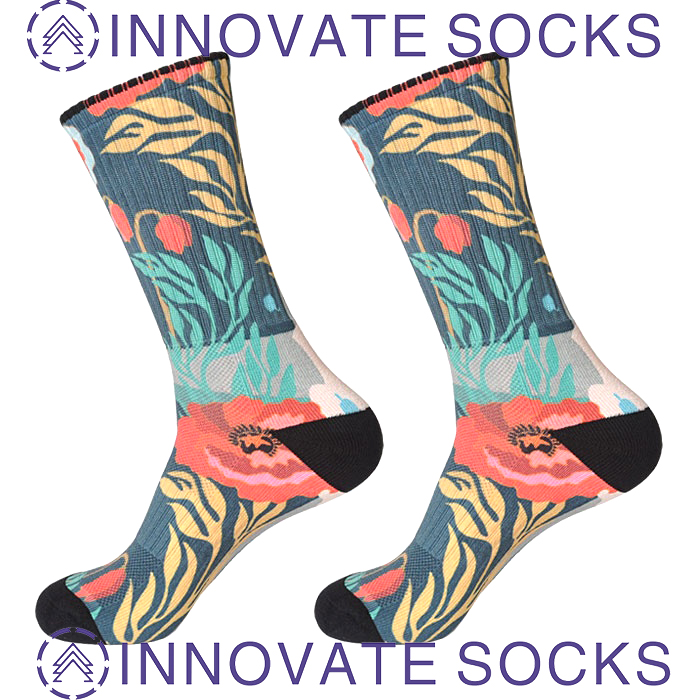 Custom 3D Sublimated Digital Photo Dye Polyester Printed Socks