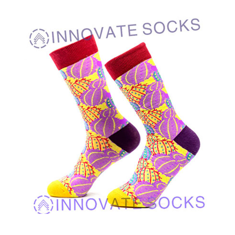 Attractable Dreamy Colorful Cartoon Cotton Socks Tube Happy Socks